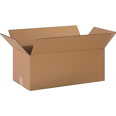 20in.(L) x 10in.(W) x 8in.(H)- Staples Corrugated Shipping Boxes, 20/Bundle