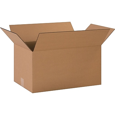 20in.(L) x 12in.(W) x 10in.(H)- Staples Corrugated Shipping Boxes