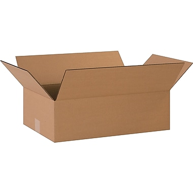 20in.(L) x 12in.(W) x 6in.(H)- Staples Corrugated Shipping Boxes, 25/Bundle