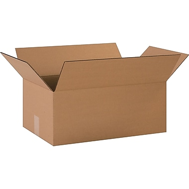 20in.(L) x 12in.(W) x 8in.(H)- Staples Corrugated Shipping Boxes, 20/Bundle