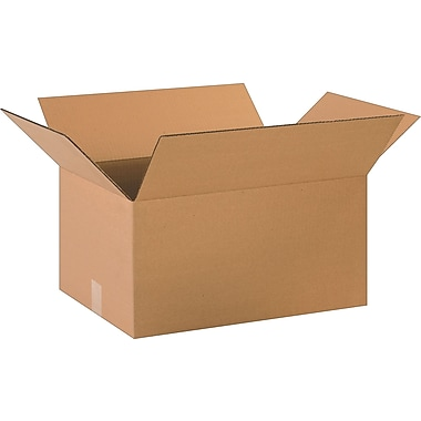 20in.(L) x 14in.(W) x 10in.(H)- Staples Corrugated Shipping Boxes, 20/Bundle