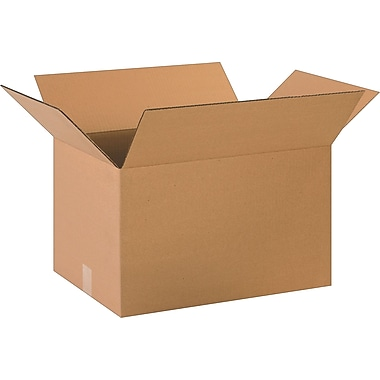 20in.(L) x 14in.(W) x 12in.(H)- Staples Corrugated Shipping Boxes, 20/Bundle