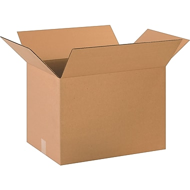 20in.(L) x 14in.(W) x 14in.(H)- Staples Corrugated Shipping Boxes, 20/Bundle