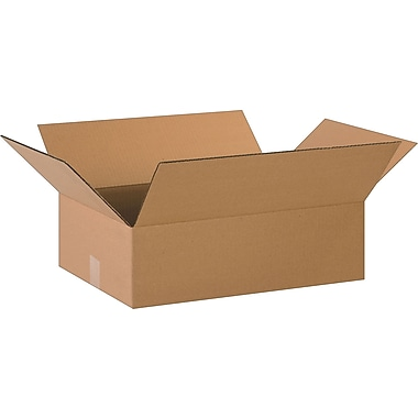 20in.(L) x 14in.(W) x 6in.(H)- Staples Corrugated Shipping Boxes, 25/Bundle