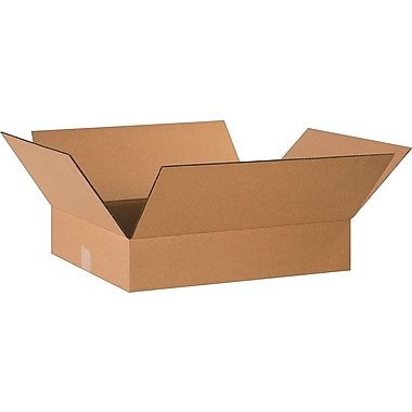 20in.(L) x 16in.(W) x 4in.(H)- Staples Corrugated Shipping Boxes, 25/Bundle