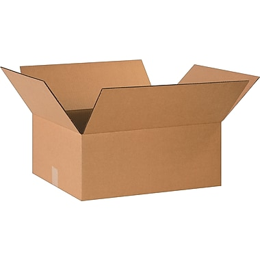 20in.(L) x 16in.(W) x 8in.(H)- Staples Corrugated Shipping Boxes, 25/Bundle