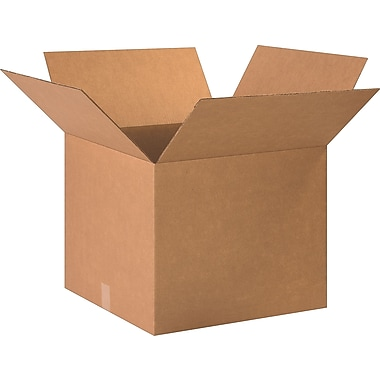 20in.(L) x 14in.(W) x 4in.(H) - Staples® Corrugated Shipping Boxes, 25/Bundle