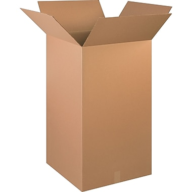 20in.(L) x 20in.(W) x 36in.(H)- Staples Corrugated Shipping Boxes