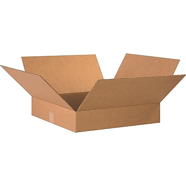 20in.(L) x 20in.(W) x 4in.(H)- Staples Corrugated Shipping Boxes
