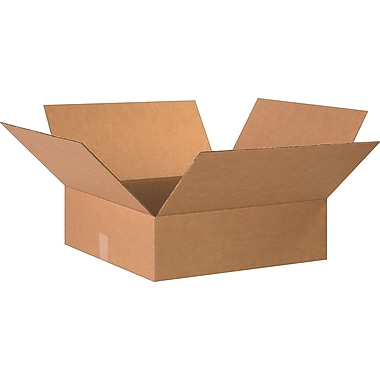 20in.(L) x 20in.(W) x 6in.(H)- Staples Corrugated Shipping Boxes, 15/Bundle