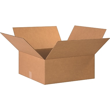 20in.(L) x 20in.(W) x 8in.(H)- Staples Corrugated Shipping Boxes, 15/Bundle