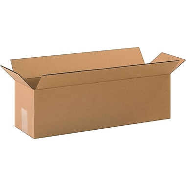 20in.(L) x 6in.(W) x 6in.(H)- Staples Corrugated Shipping Boxes, 25/Bundle