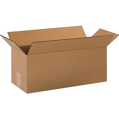 20in.(L) x 8in.(W) x 8in.(H)- Staples Corrugated Shipping Boxes