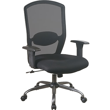 Office Star™ High Screen-Back Mesh Manager's Chair with Titanium Base, Black