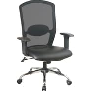 Office Star High Screen-Back Mesh Manager's Chair with Chrome Base, Black