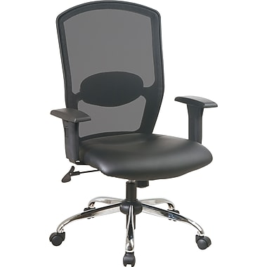 Office Star™ High Screen-Back Mesh Manager's Chair with Chrome Base, Black