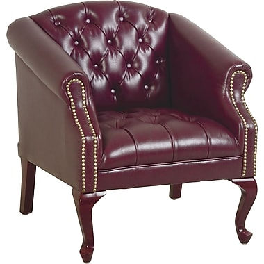 Office Star Traditional Queen Ann High-Back Club Chair