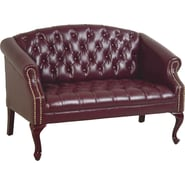 Office Star Traditional Queen Ann High-Back Loveseat