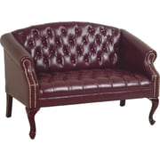 Office Star™ Traditional Queen Ann High-Back Loveseat