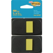 "Staples Stickies™ 1"" Flags with Pop-Up Dispenser, Yellow, 2/Pack (14111)"