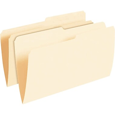 Pendaflex® Smart Shield™ File Folders, Legal Size, Manila, 1/2 Cut Tabs