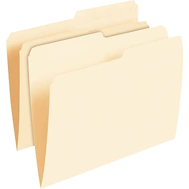 Pendaflex® Smart Shield™ File Folders, Letter Size, Manila, 1/2 Cut Tabs