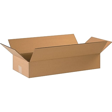 22in.(L) x 10in.(W) x 4in.(H)- Staples Corrugated Shipping Boxes, 25/Bundle
