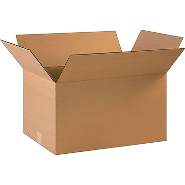 22in.(L) x 14in.(W) x 12in.(H)- Staples Corrugated Shipping Boxes, 20/Bundle