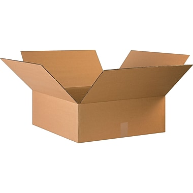 22in.(L) x 22in.(W) x 8in.(H)- Staples Corrugated Shipping Boxes, 15/Bundle