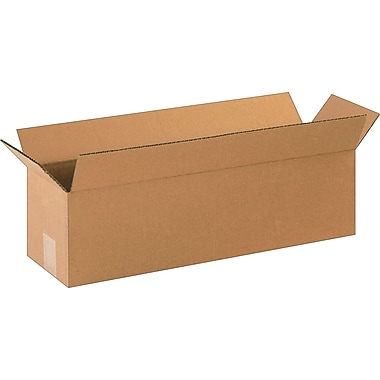 22in.(L) x 6in.(W) x 6in.(H)- Staples Corrugated Shipping Boxes, 25/Bundle