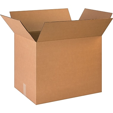 23in.(L) x 16in.(W) x 18-5/8in.(H)- Staples Corrugated Shipping Boxes