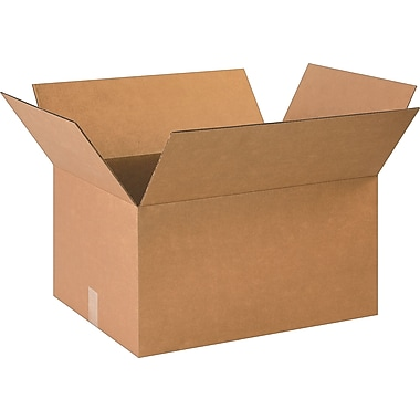 23in.(L) x 17in.(W) x 12in.(H)- Staples Corrugated Shipping Boxes