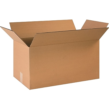 24in.(L) x 12in.(W) x 12in.(H)- Staples Corrugated Shipping Boxes, 20/Bundle