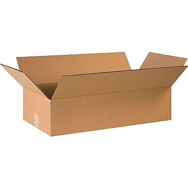 24in.(L) x 12in.(W) x 6in.(H)- Staples Corrugated Shipping Boxes, 20/Bundle
