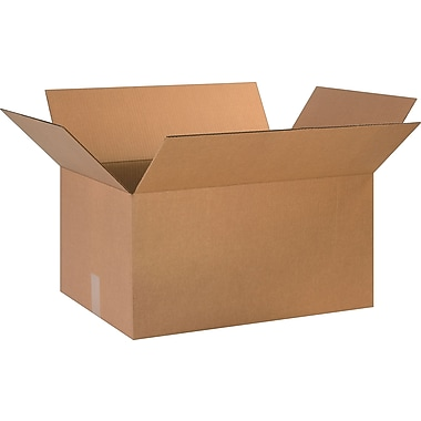 24in.(L) x 16in.(W) x 12in.(H)- Staples Corrugated Shipping Boxes, 10/Bundle