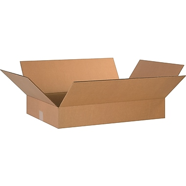 24in.(L) x 16in.(W) x 4in.(H)- Staples Corrugated Shipping Boxes, 25/Bundle