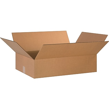 24in.(L) x 16in.(W) x 6in.(H) - Staples Corrugated Shipping Boxes, 20/Bundle