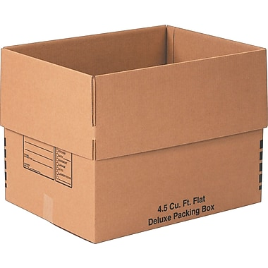 24in.(L) x 18in.(W) x 18in.(H)- Staples Deluxe Moving Boxes, 10/Bundle