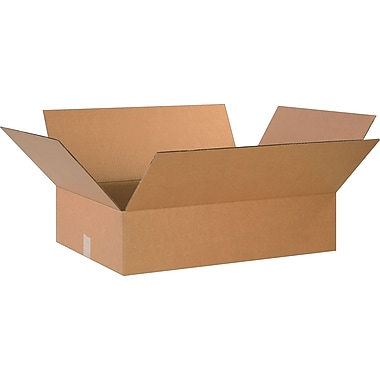 24in.(L) x 18in.(W) x 6in.(H)- Staples Corrugated Shipping Boxes, 20/Bundle