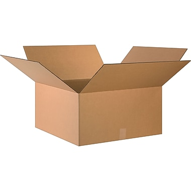 24in.(L) x 24in.(W) x 12in.(H)- Staples Corrugated Shipping Boxes, 10/Bundle