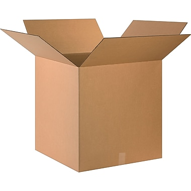 24in.(L) x 24in.(W) x 24in.(H)- Staples Corrugated Shipping Boxes, 10/Bundle
