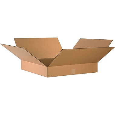 24in.(L) x 24in.(W) x 4in.(H)- Staples Corrugated Shipping Boxes, 10/Bundle
