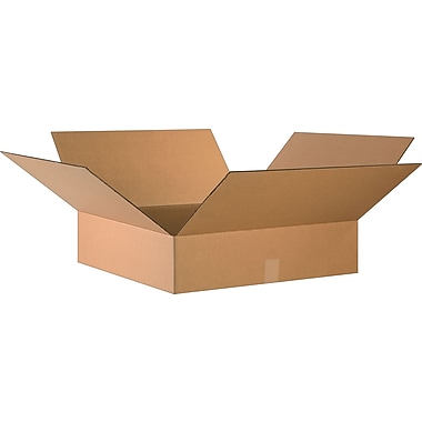 24in.(L) x 24in.(W) x 6in.(H)- Staples Corrugated Shipping Boxes, 10/Bundle