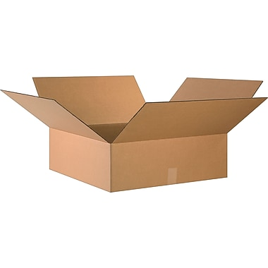 24in.(L) x 24in.(W) x 8in.(H)- Staples Corrugated Shipping Boxes, 10/Bundle