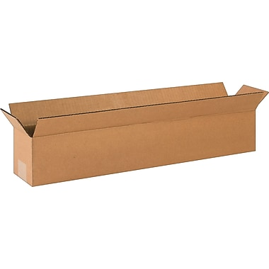 24in.(L) x 4in.(W) x 4in.(H)- Staples Corrugated Shipping Boxes, 25/Bundle