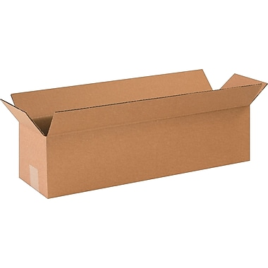 24in.(L) x 6in.(W) x 6in.(H)- Staples Corrugated Shipping Boxes, 25/Bundle