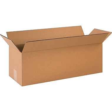 24in.(L) x 8in.(W) x 8in.(H)- Staples Corrugated Shipping Boxes, 25/Bundle