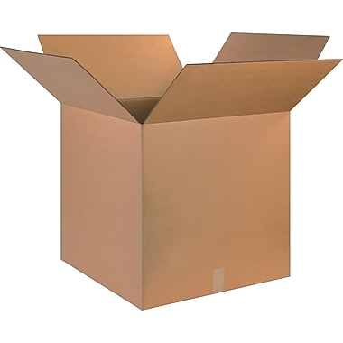 25in.(L) x 25in.(W) x 25in.(H)- Staples Corrugated Shipping Boxes, 10/Bundle