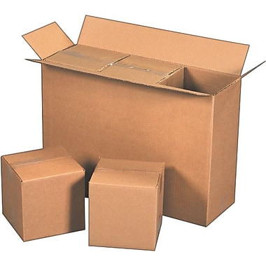 25-1/8in.(L) x 8-3/8in.(W) x 17-1/2in.(H)- Staples Corrugated Shipping Boxes, 15/Bundle