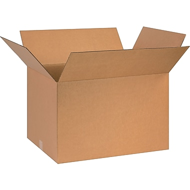 26in.(L) x 13in.(W) x 8in.(H) - Staples® Corrugated Shipping Boxes, 20/Bundle